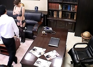 Oriental MILF undressing on tap be imparted to murder office