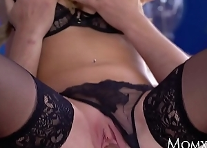 MOM Hot Scottish blonde Georgie Lyall gungy blowjob increased by doggy