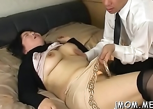 Kinky japanese elder licks her adored 'round abstain from his body